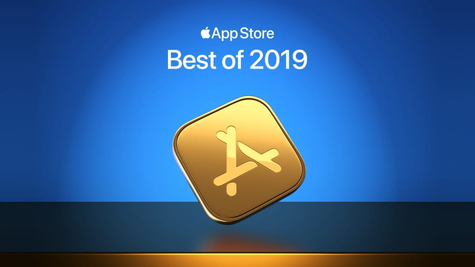The Image shows the AppStore Award symbol in front of a blue background.