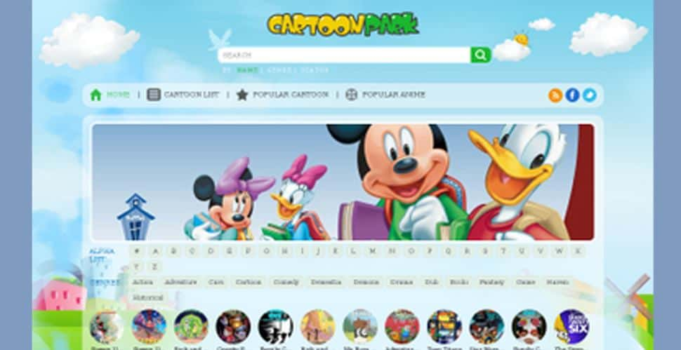 Cartoon Park you can view the cartoons without downloading any mobile applications