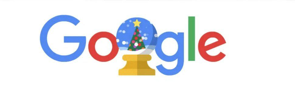 Google customizes its website to include a variety of Easter eggs with holiday themes
