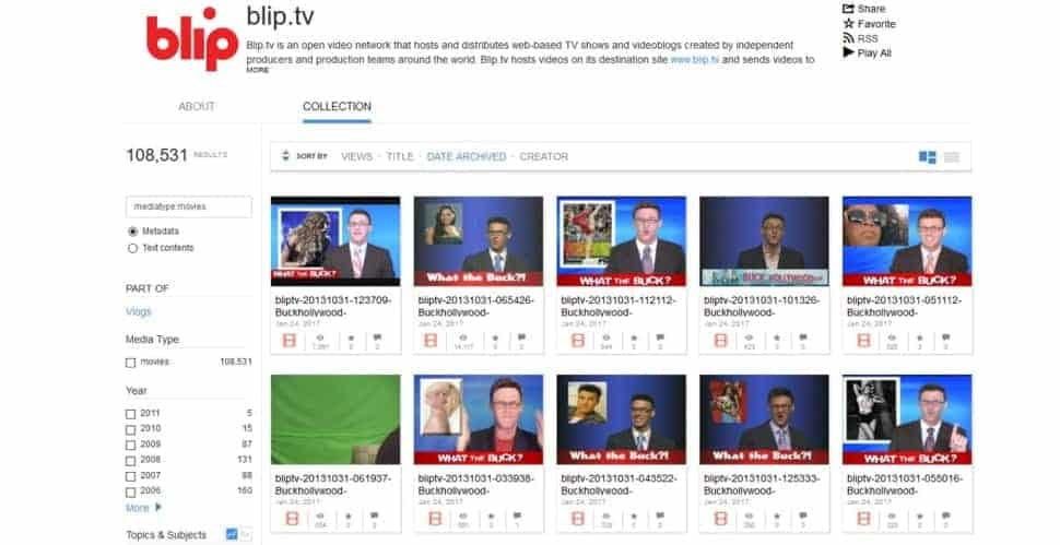 Bliptv hosts thousands of animated videos, cartoon shows, and comics.