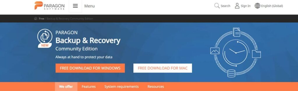 paragon data recovery